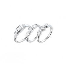 Zilveren ring assortiment maat 14 t/m 17