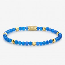 Rebel & Rose Jewelry Bracelet Brightening Blue 4mm Yellow Gold Plated S - 614707
