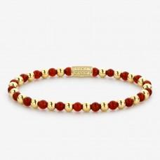 Rebel & Rose Jewelry Bracelet Mix Amazing Grace 4mm Yellow Gold Plated S - 614701