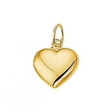14 krt gouden hartjes bedel 8.5mm