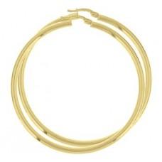 14 krt gouden oorringen 56x3mm