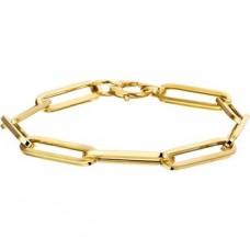 14krt gouden armband ankerschakel 6mm 19cm