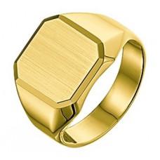 14 krt gouden heren zegelring maat 20.25 - 613091