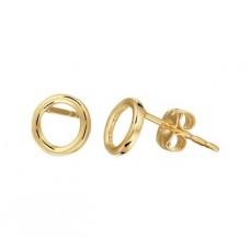 14 krt gouden oorknoppen cirkel open - 613093