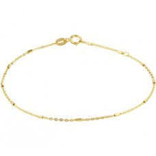 14krt gouden enkelbandje fantasie 24-26cm 1.1mm (K079) - 615096