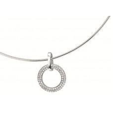 14 krt witgouden hanger met diamant 0.25crt SI 14.5mm