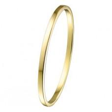 14 krt gouden slaven armband zilveren kern 60mm 3mm