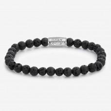 Rebel & Rose Jewelry Bracelet Black Moon 6mm S - 614491