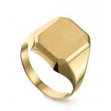 14 krt gouden herenring maat 17.25 13x11mm - 602442