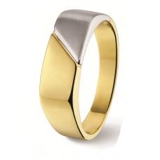 14 krt gouden bicolor herenring maat 19.5 - 605124
