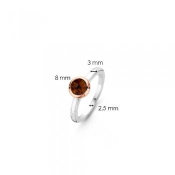 Ti Sento Ring Verguld 12103TB/54 - 613135