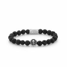 Rebel & Rose Jewelry Bracelet Lion Head Black Moon 8mm M - 613757