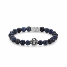Rebel & Rose Jewelry Bracelet Lion Head Midnight Blue 8mm M - 613758