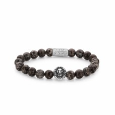 Rebel & Rose Jewelry Bracelet Lion Head Brown Sugar 8mm M - 613759