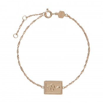 Cluse Force Tropicale Rose Gold Twisted Chain Tag Bracelet CLJ10022 - 613804