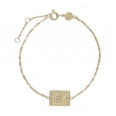 Cluse Force Tropicale Gold Twisted Chain Tag Bracelet CLJ11022 - 613803