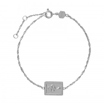 Cluse Force Tropicale Silver Twisted Chain Tag Bracelet - 613802