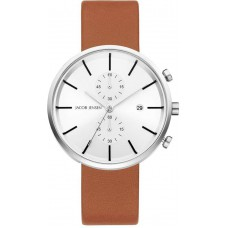 Jacob Jensen Watch Linear Cognac/Steel Chrono 622 - 611814