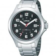 Lorus heren staal zwart 100mtr RXH01IX9 - 607595
