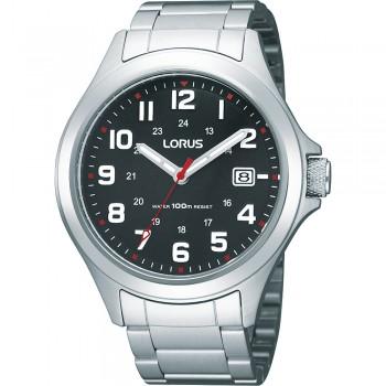 Lorus herenhorloge staal zwart 100mtr RXH01IX9 - 607595
