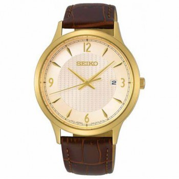 Seiko Staal double bruin leer SGEH86P1 - 616321