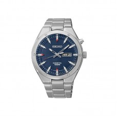 Seiko Kinetic Staal blauw 100mtr wd SMY149P1