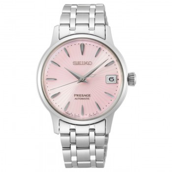 Seiko Dames Presage Automaat Staal Roze 50mtr SRP839J1 - 616051
