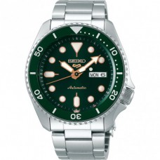 Seiko 5 Sports Automatic SS Staal Groen 100mtr SRPD63K1 - 614224