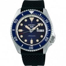 Seiko 5 Sports Automatic SS Siliconen Blauw 100mtr SRPD71K2 - 614225