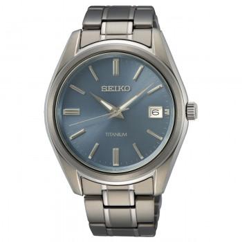 Seiko Titanium Lichtblauw 100mtr SUR371P1 - 616056