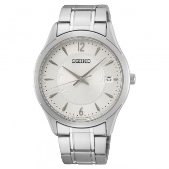 Seiko Staal Wit 100mtr SUR417P1 - 616054