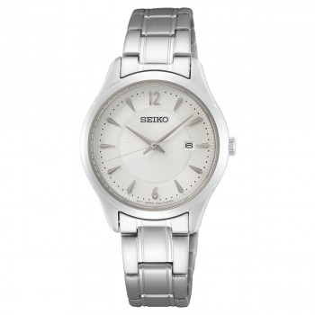 Seiko Dames Staal Wit 100mtr SUR423P1 - 616059