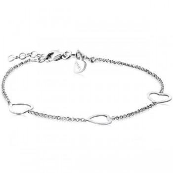 ZINZI zilveren armband met drie hartjes ZIA1188 - 609993
