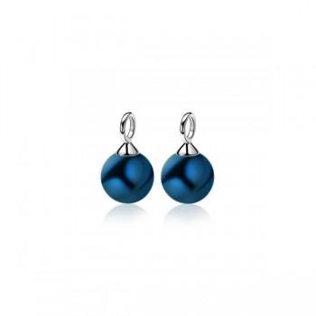 ZINZI zilveren oorbedels blauwe parel 10mm ZICH266B - 609726