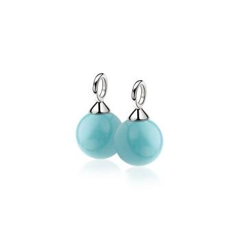 ZINZI zilveren oorbedels turquoise 10mm ZICH266T - 602956