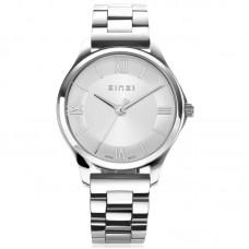 ZINZI Watch Classy Mini 30mm zilveren wijzerplaat kast en band ZIW1202 - 614689