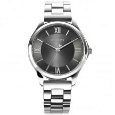 ZINZI Watch Classy Mini 30mm grijze wijzerplaat zilveren kast en band ZIW1224 - 614691