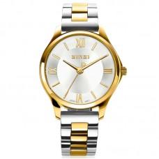 ZINZI Watch Classy Mini 30mm zilveren wijzerplaat bicolor kast en band ZIW1233 - 614692