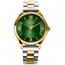 ZINZI Watch Classy Mini 30mm groene wijzerplaat bicolor kast en band ZIW1235 - 614693