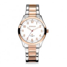 ZINZI Watch bicolor staal rose en zilveren wijzerplaat ZIW212 - 615241