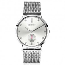 ZINZI Retro Watch silver wijzerplaat meshband ZIW423M - 615242