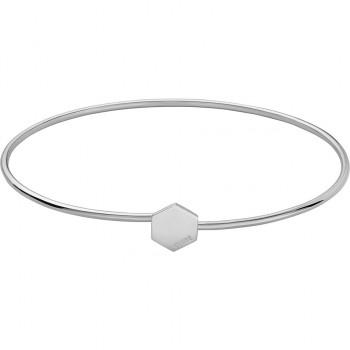 CLUSE Essentielle Silver Hexagon Bangle Bracelet CLJ12001 - 612454