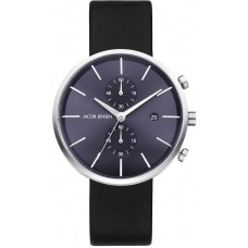 Jacob Jensen Watch Linear Black/Blue Chrono 621 - 611813
